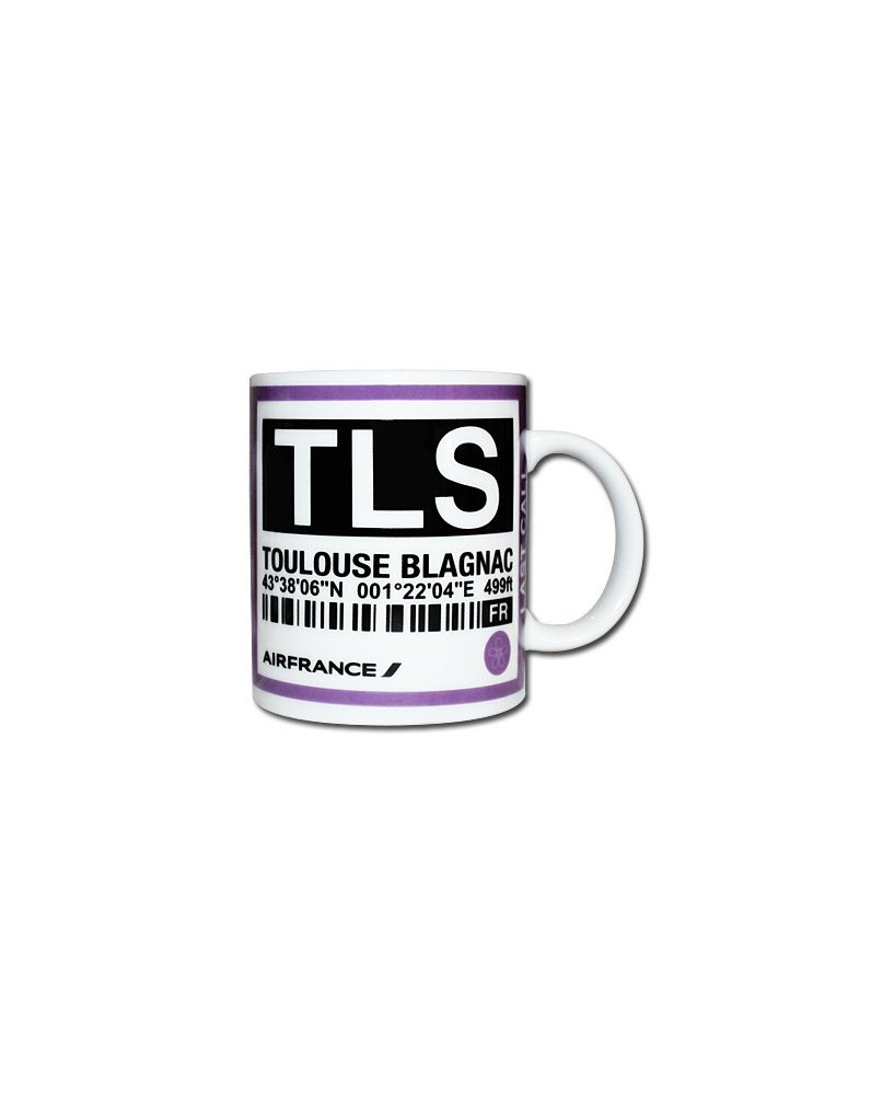 Mug bag-tag T.L.S. - Air France Toulouse