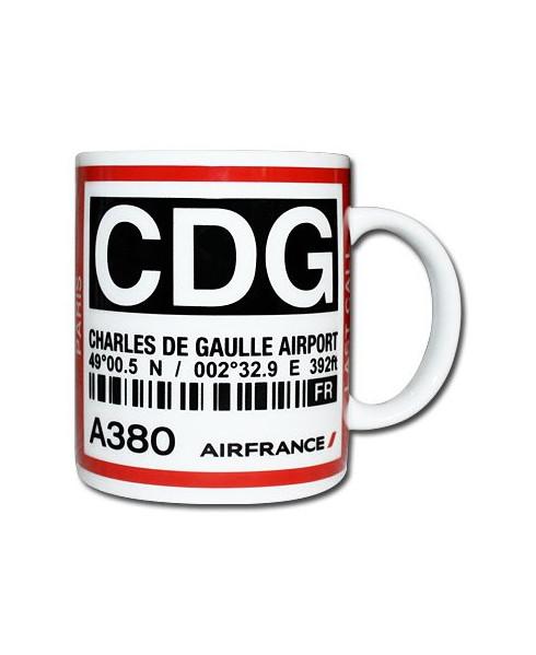 Mug bag-tag C.D.G. - Air France Paris