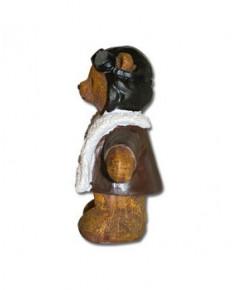 Statuette ourson aviateur 12 cm