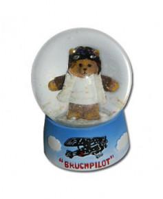 Boule à neige ourson aviateur