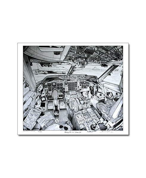 Illustration Boeing 747 - Tableau de bord