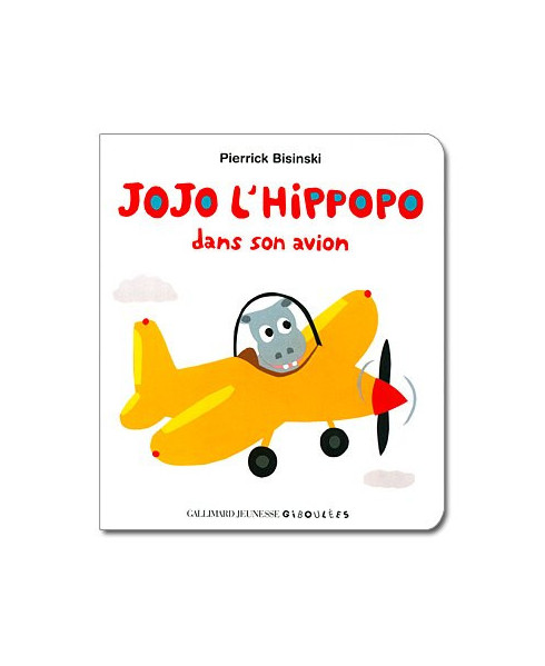 Jojo l'hippopo dans son avion