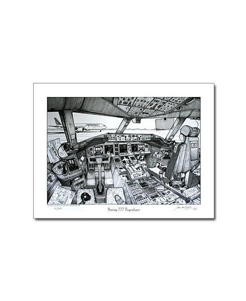 Illustration Boeing 777 - Tableau de bord