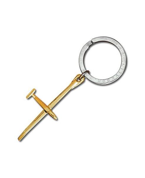 Porte-clés plaqué or planeur