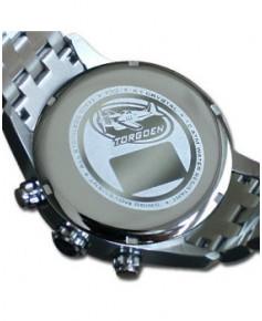 Montre Torgoen T33 203 - boîtier acier, cadran ivoire et bracelet acier