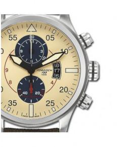 Montre Torgoen T33 402 - boîtier acier, cadran ivoire et bracelet nylon