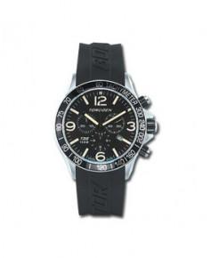 Montre Torgoen T35 301 - boîtier acier, cadran noir et bracelet caoutchouc