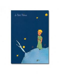 Cahier à rabat grand modèle bleu foncé Petit Prince