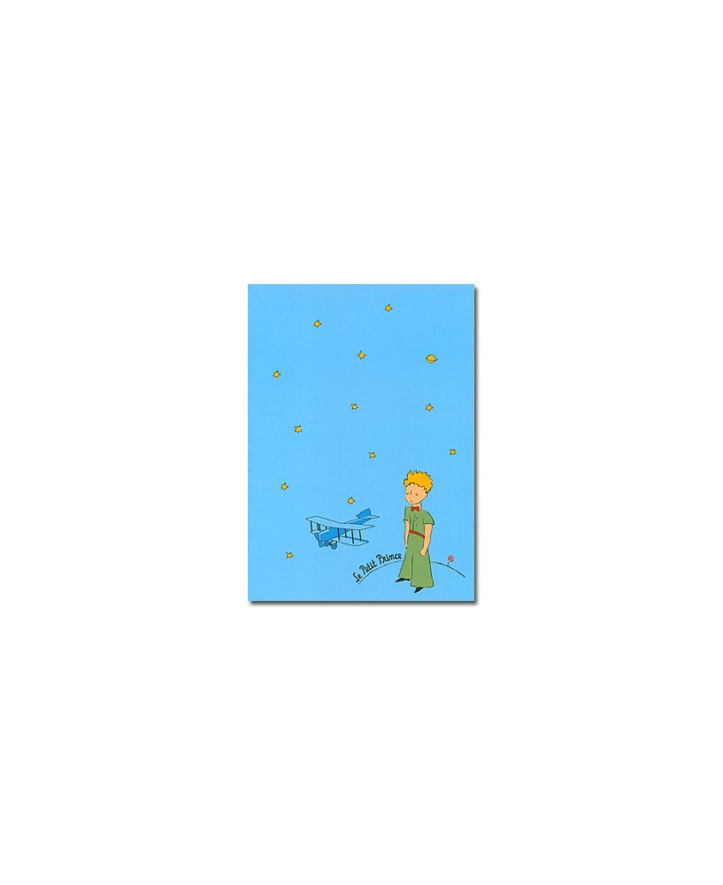 Cahier à rabat grand modèle bleu Petit Prince
