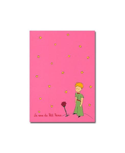 Cahier à rabat grand modèle rose Petit Prince