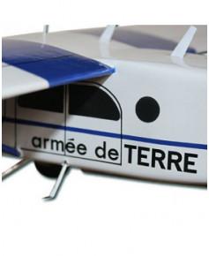 Maquette bois Pilatus PC6 Armée de Terre