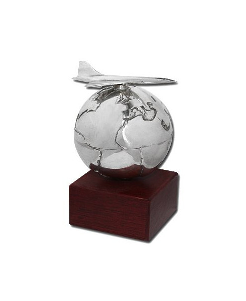 Presse-papier Globe Concorde en étain massif Serge LEIBOVITZ