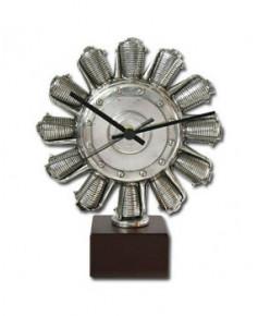 Horloge moteur étoile en étain massif Serge LEIBOVITZ