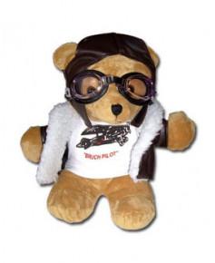 Peluche ourson aviateur