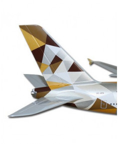 Maquette plastique A380 Etihad Airways - 1/200e