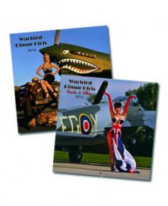 Lot des deux calendriers Warbird Pinup Girls 2014 et 2015