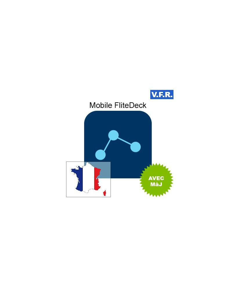 Mobile FliteDeck V.F.R. France avec mise à jour pendant 1 an