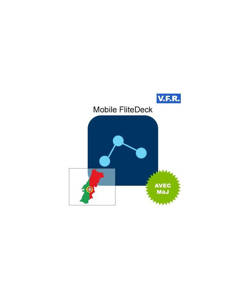 Mobile FliteDeck V.F.R. Portugal avec mise à jour pendant 1 an