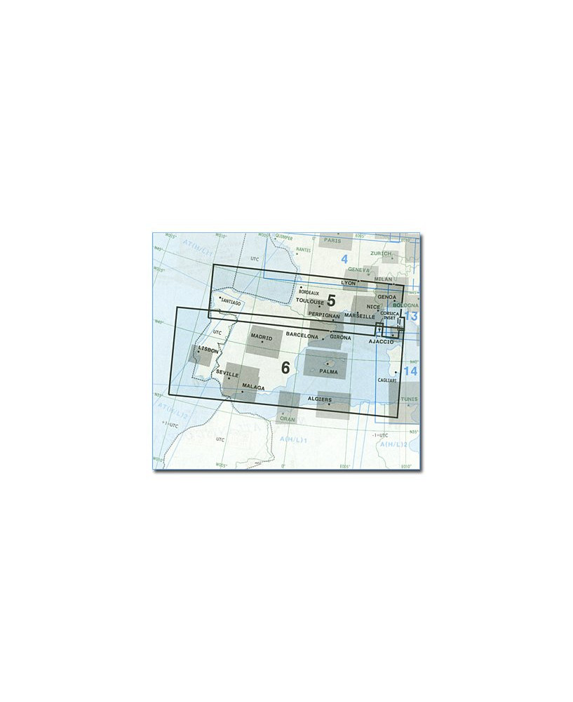 Carte Jeppesen Europe En Route basse altitude E(LO) 5/6