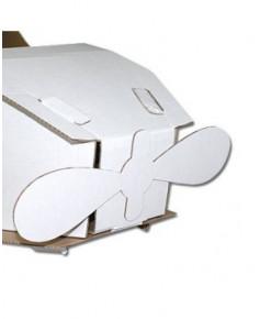 Avion en carton à décorer