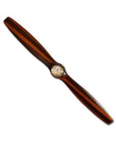 Hélice de décoration en bois avec horloge