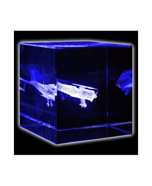 Bloc de verre biplan 60x60x60 mm