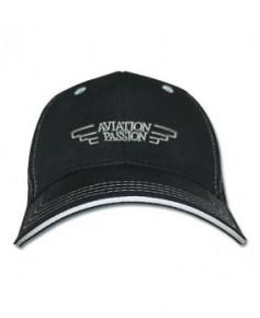 Cap'Aéro coton noire - casquette Aviation Passion