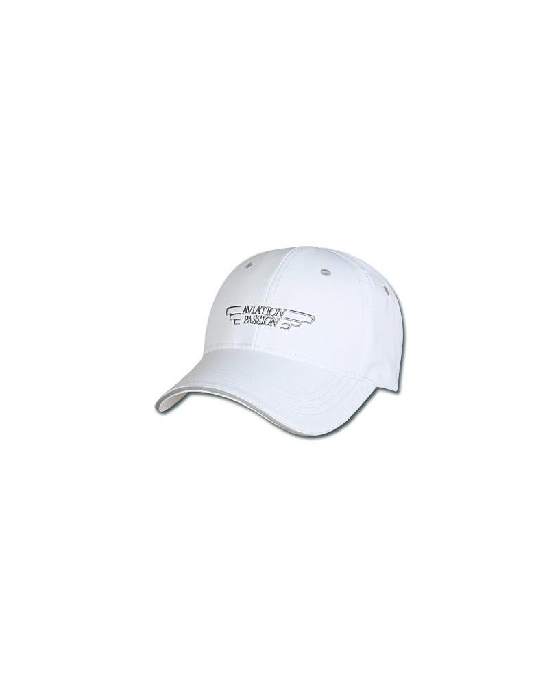 Cap'Aéro microfibre blanche - casquette Aviation Passion