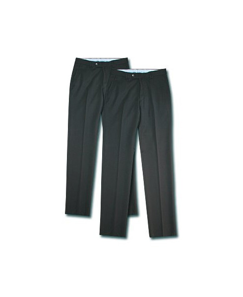 Lot de deux pantalons homme extensibles bleu marine - Taille 44