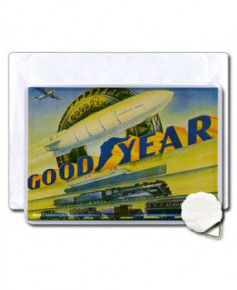 Carte postale Good Year en métal