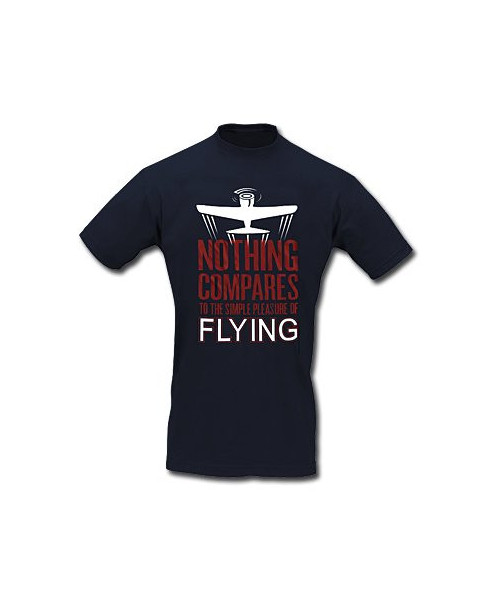 Tee-shirt Nothing compares to the simple pleasure of flying - Taille L