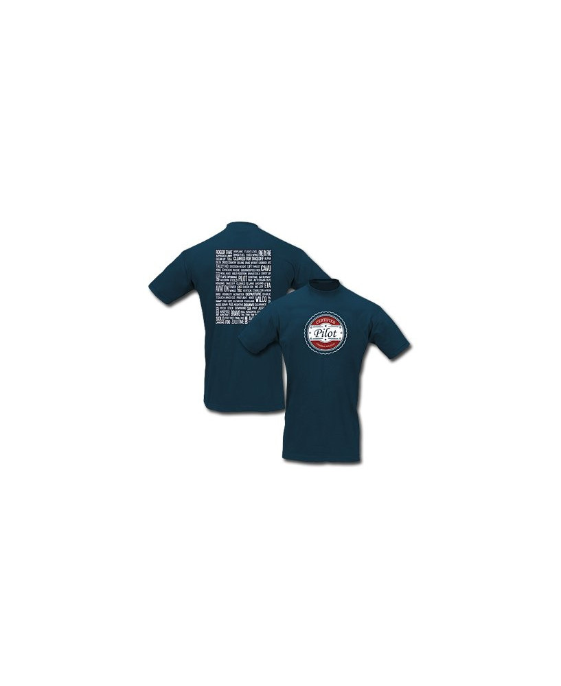 Tee-shirt Certified pilot - Taille L