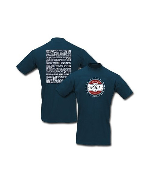 Tee-shirt Certified pilot - Taille S