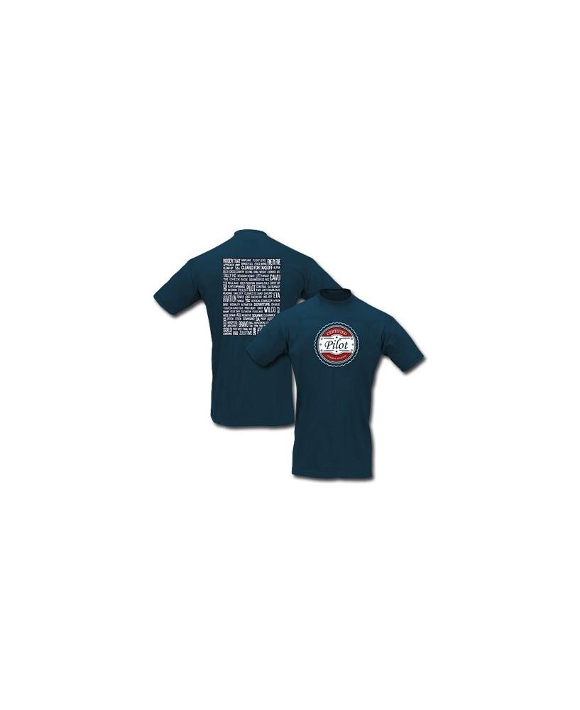 Tee-shirt Certified pilot - Taille M
