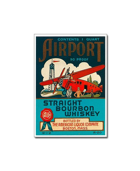 Affiche Airport Straight Bourbon Whiskey