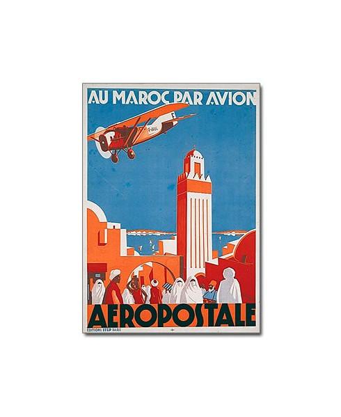 Affiche Au Maroc par avion