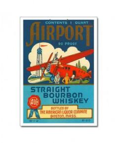 Panneau décoratif en carton Airport Straight Bourbon Whiskey