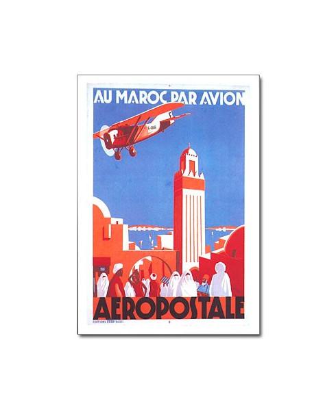 Carte postale Au Maroc par avion
