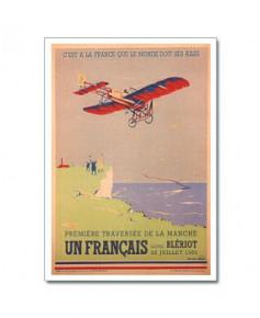 Carte postale Première traversée de la Manche