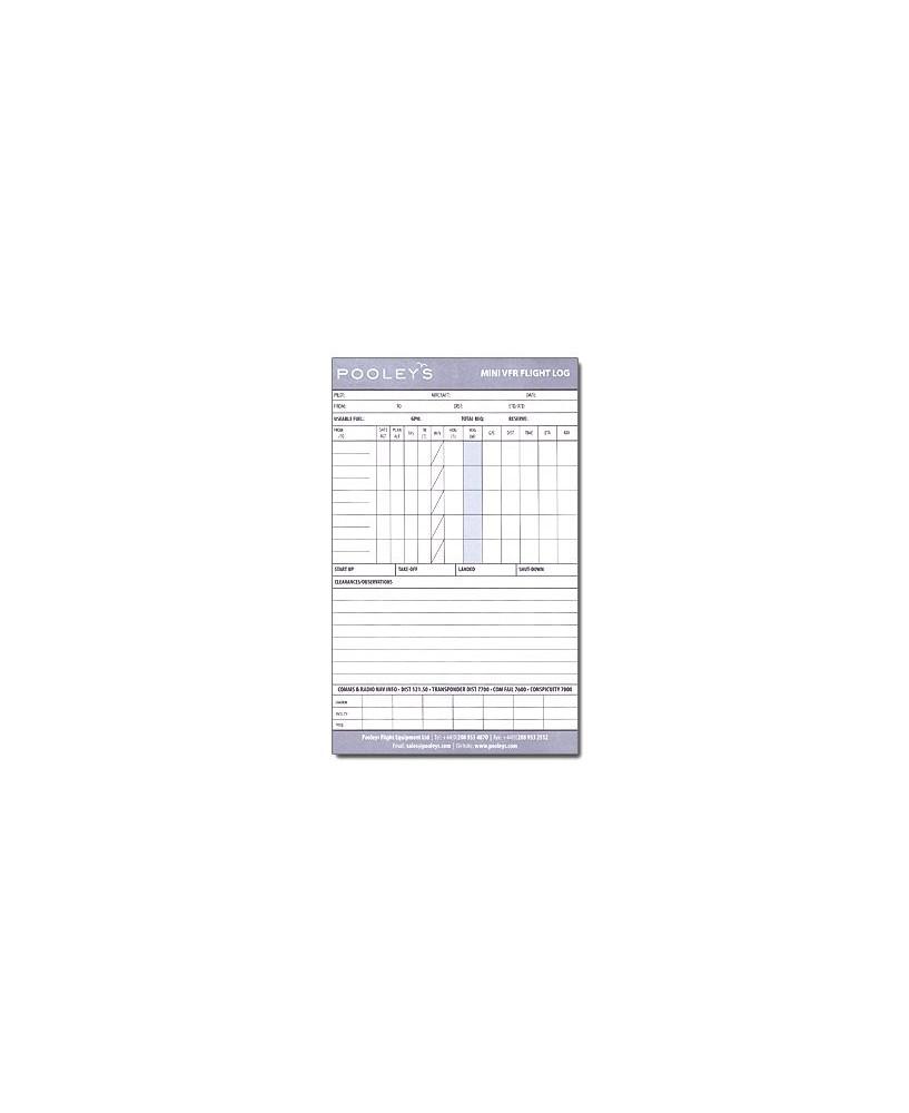 Log de navigation V.F.R. Mini Pad - Pooleys