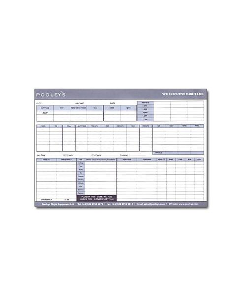 Log de navigation V.F.R. Executive - Format A4 Pooleys