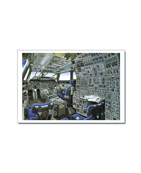 Illustration Concorde - Poste de pilotage - 100 x 70 cm