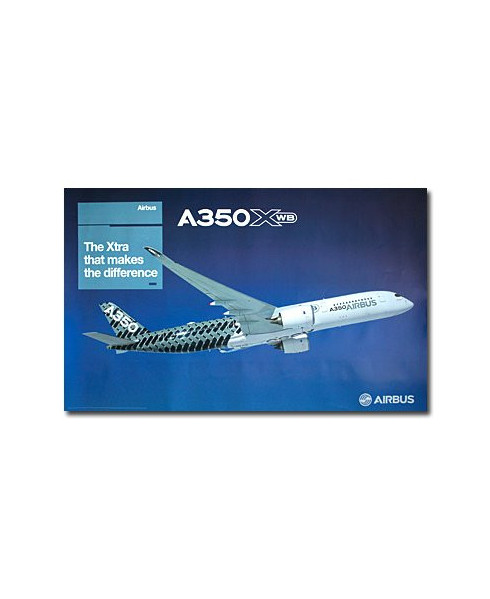 Poster A350 XWB The Xtra that makes the difference