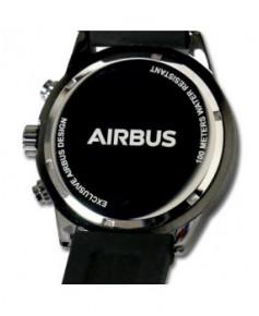 Montre pilote Exclusive Airbus en acier noir