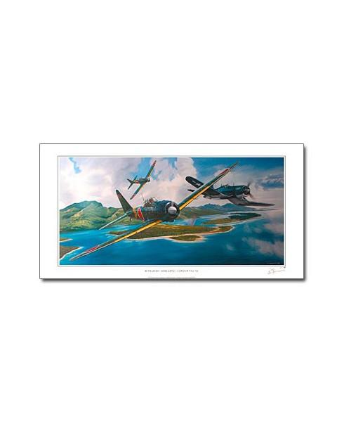Poster Mitsubishi A6M3 et Corsair F4U-1D