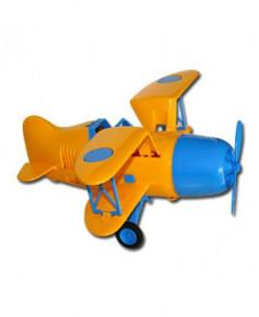 Avion vintage jaune et bleu