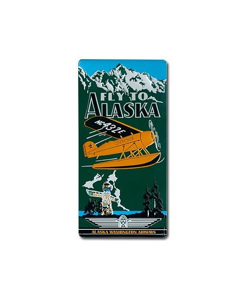 Plaque décorative en relief Fly to Alaska