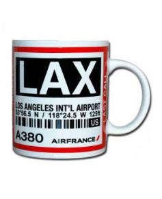 Mug bag-tag L.A.X. - Air France Los Angeles