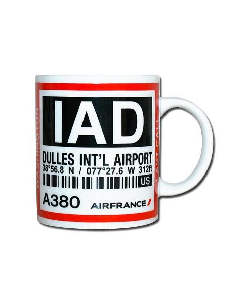 Mug bag-tag I.A.D. - Air France Washington