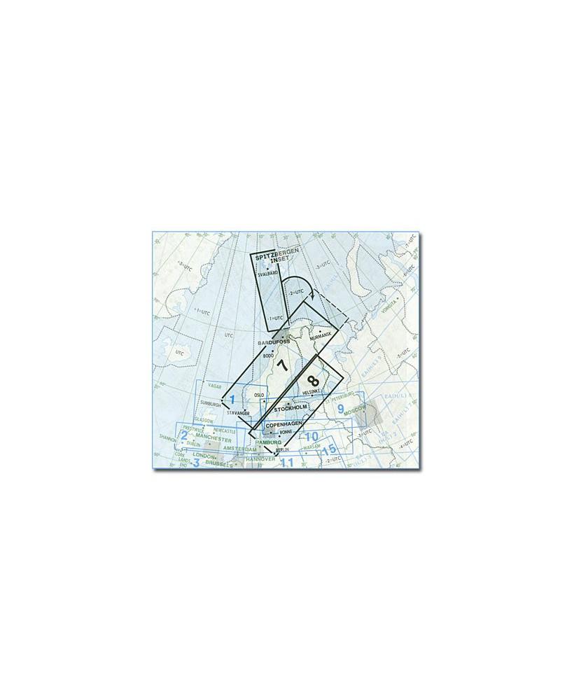 Carte Jeppesen Europe En Route basse altitude E(LO) 7/8